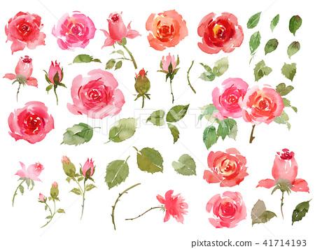 玫瑰材料 41714193
