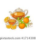orange, illustration, tea 41714308