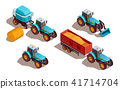 Agricultural Machines Isometric Composition 41714704
