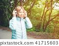 headphones, person, woman 41715603