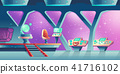 Vector background with interior of spaceship 41716102