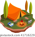 isometric camp camping 41716229