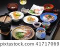 มื้ออาหารสไตล์ญี่ปุ่นของโรงแรมน้ำพุร้อน 41717069