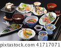 มื้ออาหารสไตล์ญี่ปุ่นของโรงแรมน้ำพุร้อน 41717071