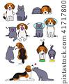 벡터, 개, 강아지 41717800