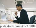 직장인, 컴퓨터, 비즈니스 41718804
