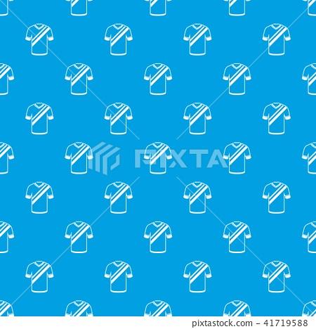Shirt football pattern vector seamless blue 41719588