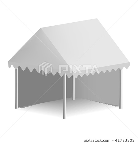 Outdoor white tent mockup, realistic style 41723505