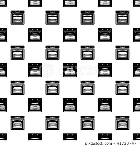 Kitchen stove pattern vector seamless 41723747