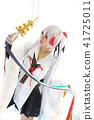 Japan anime cosplay , white japanese miko in white tone room 41725011