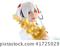 Japan anime cosplay , white japanese miko in white tone room 41725029