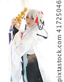 Japan anime cosplay , white japanese miko in white tone room 41725046