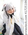Japan anime cosplay , white japanese miko in white tone room 41725106