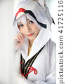Japan anime cosplay , white japanese miko in white tone room 41725116