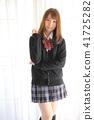 Asian school girl 41725282