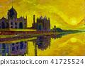 World famous landmark series  Taj Mahal in India. 41725524