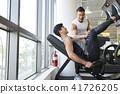 운동, 운동기구, 젊은남자 41726205