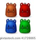 Colored school backpacks set 41726665