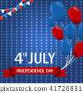 Fourth of July independence day of the USA. 41726831