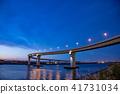 미에현 욧카 이치 항에 새로 생긴 다리 이나바 포트 라인의 야경 41731034