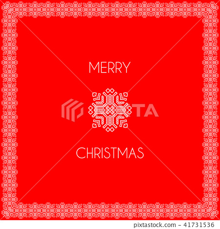 Square white frame on red background and pattern 41731536