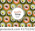 sushi roll vector 41732242
