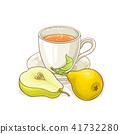 pear tea illustration 41732280