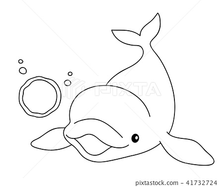 Silver Dolphin Beluga Bubble Coloring Coloring 41732724