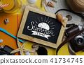 Summer Time Typography on Blackboard 41734745