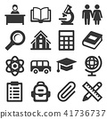 School Icons Set on White Background. Vector 41736737