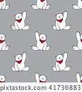 Bear Seamless Pattern polar bear vector scarf gray 41736883