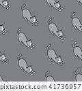 Cat vector Seamless Pattern tile wallpaper gray 41736957