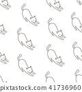 Cat vector Seamless Pattern tile wallpaper cartoon 41736960