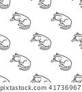 Cat vector Seamless Pattern sleep wallpaper white 41736967