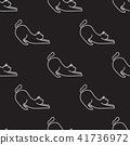 Cat Seamless Pattern vector wallpaper kitten white 41736972