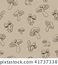 seamless, pattern, mushroom 41737338