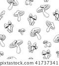 seamless, pattern, mushroom 41737341