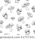 mushroom Seamless Pattern vector doodle wallpaper  41737341
