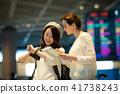 여행 공항 여성 촬영 협조 : 나리타 공항 41738243