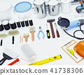Construction, tools, located,on, a, white, surface 41738306