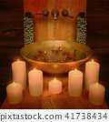 Composition,of, spa, treatment,with,candlelight,on 41738434