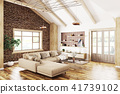 Interior of modern living room 3d rendering 41739102