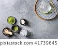 Green tea matcha powder 41739645