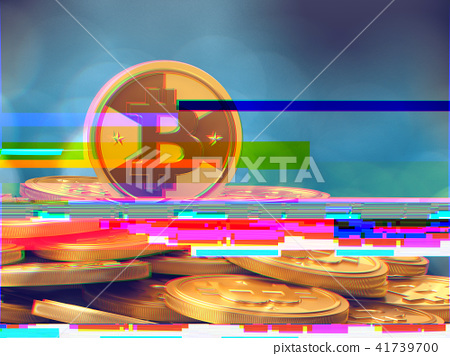 Bitcoin with glitch effect - Stock Illustration [41739700] - PIXTA