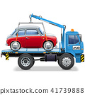 Vector Tow Truck with Automobile 41739888
