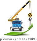 Vector Truck Crane with Green Arrow 41739893