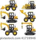 Vector Yellow Construction Machinery 41739946