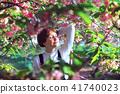 girl posing in sakura 41740023