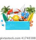 Vector Beach Blue Plank 41740388