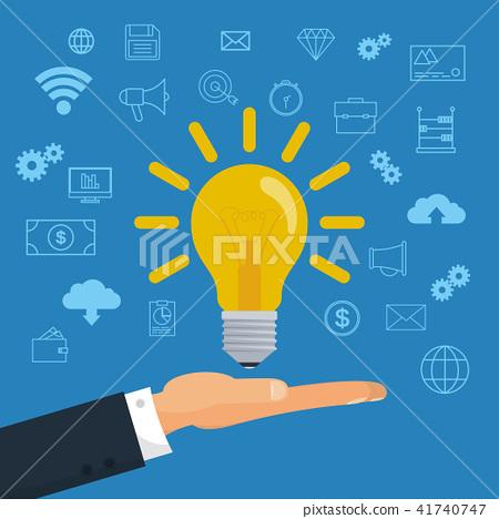 Creative Idea Light Bulb 41740747
